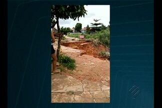 Cratera se abre na cidade de Rondon do Pará - Prefeitura decretou estado de emergência