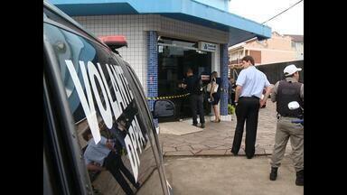 Agência bancária de Camobi em Santa Maria, RS, é assaltada - Dois caixas eletrônicos foram arrombados e um terceiro danificado.
