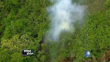 Incêndio atinge área de preservação ambiental em Salvador - Situação aconteceu na região do Jardim Armação, veja nas imagens do Redecop.
