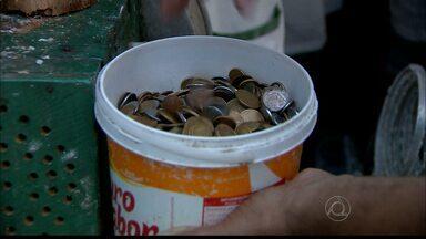 JPB2JP: Faltam moedas e passar troco fica complicado no comércio da Capital - Alguns comerciantes estão perdendo dinheiro.