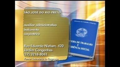 Veja as vagas de emprego anunciadas no Bom Dia Cidade de Rio Preto, SP - As vagas desta quarta-feira (21) para toda a região de São José do Rio Preto (SP). Oportunidade para quem quer trabalhar como balconista, costureira e arquiteta.