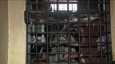 Motim em cadeia de cadeia de Imbituva, na região central, dura mais de 15 horas - Espaço já foi interditado devido superlotação.