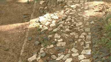 Passeio público de Salvador aparenta abandono - O local, que fica no Campo Grande, e guarda arte e já foi área de lazer agora está com mato alto, bancos quebrados e equipamentos enferrujados.
