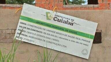 Moradores aguardam entrega de posto de saúde - Moradores do bairro Real Parque, em Cuiabá, aguardam ansiosos pela entrega de um posto de saúde.