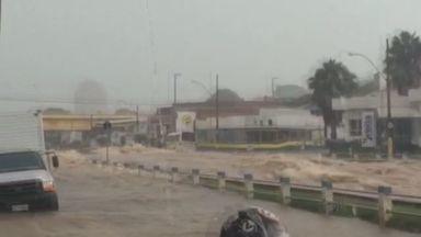 Confira a previsão do tempo para esta terça-feira na região de Ribeirão Preto - Em Franca, chuva causou alagamentos.
