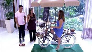 Conheça a nova moda das 'Food Bikes' - Empresária criou bicicleta para vender brigadeiros