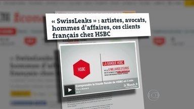 HSBC ajuda clientes a cometer crimes financeiros na Suíça - Um levantamento feito pelo Consórcio Internacional de Jornalistas Investigativos revelou que o HSBC ajudou seus clientes ricos, na Suíça, a sonegar impostos e a cometer crimes financeiros. Dos clientes, 55% têm passaporte ou nacionalidade brasileira.