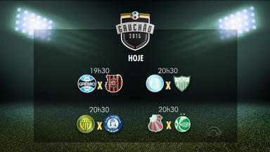 Confira a tabela de horários dos jogos da 4ª rodada do Gauchão - Mais jogos ocorrem nesta quarta (11) e quinta-feira (12).