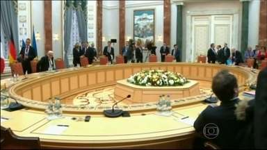 Começa o encontro entre líderes por acordo de paz para a Ucrânia - Começou na Belarus o encontro entre líderes da Alemanha, da França, da Ucrânia e o presidente da Rússia em busca de um acordo de paz para a Ucrânia.