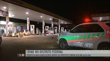 Protesto contra a alta da gasolina termina em tragédia no DF - Discussão entre frentista e manifestantes acabou com a morte de um garoto de 15 anos.