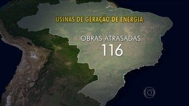 Prejuízo com obras de energia chega a R$65 bilhões - Uma pesquisa inédita da Federação das Indústrias do Rio calculou o tamanho do prejuízo com obras de energia atrasadas em todo o país. São mais de 200 projetos fora do prazo ou até parados.