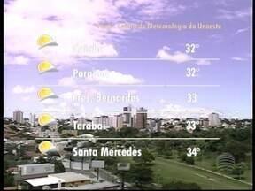 Meteorologia prevê pancadas de chuva durante esta quinta-feira - Veja as temperaturas para algumas cidades.