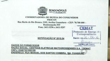 Procon cobra explicações de concessionária sobre apagões em Rondonópolis (MT) - Procon cobra explicações de concessionária sobre apagões em Rondonópolis (MT).
