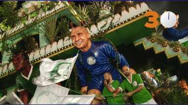 30 segundos: Carro da Mancha Verde entra sem o goleiro Marcos no Sambódromo - Homenageado pela escola de samba Mancha Verde, ex-goleiro do Palmeiras e ídolo do time, Marcos não participou do desfile por conta de um problema de saúde.