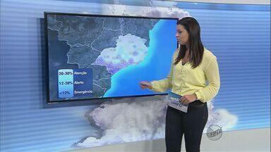 Confira a previsão do tempo para a região de São Carlos e Araraquara neste sábado (14) - Confira a previsão do tempo para a região de São Carlos e Araraquara neste sábado (14)