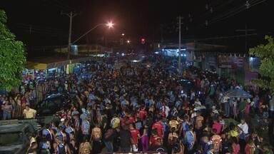 Foliões vão às ruas do bairro areal em Porto Velho - Foliões vão às ruas do bairro areal em Porto Velho.