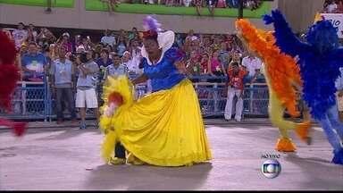 'Eu toparia tudo pela União da Ilha', disse Cacau Protásio sobre desfile - Atriz foi destaque da escola de samba como Branca de Neve