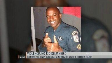 Quatro policiais foram assassinados no RJ no fim de semana - Um deles estava de folga e voltava do desfile das escolas campeãs do Carnaval.