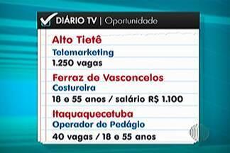 Confira as vagas de emprego disponíveis nos PATs do Alto Tietê nesta semana - São mais de 1,7 mil vagas em toda a região.