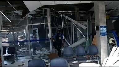 Explosão de agências bancárias assustam moradores no sul de Goiás - Nos últimos dois anos, pelo menos vinte agências bancárias foram alvo de explosões na região sul de Goiás. A última foi em Itumbiara, onde os moradores estão assustados.