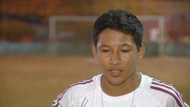 Adolescente de Anori, no AM, vai participar de peneira no Fluminense - Jovem talento carrega o sonho de ser jogador desde a infância.