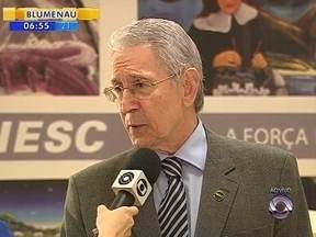 Presidente da Fiesc fala sobre os prejuízos causados pela greve de caminhoneiros - Presidente da Fiesc fala sobre os prejuízos causados pela greve de caminhoneiros