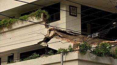 Laudo de engenheiro já apontava risco de desabamento em edifício - Moradores haviam solicitado parecer de engenheiro em Fortaleza. Laudo ficou pronto horas antes de acidente. Uma pessoa morreu.
