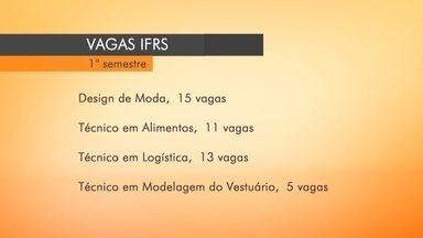 IFRS abre novas vagas em Erechim, RS, - São 44 para três cursos técnicos e um superior.