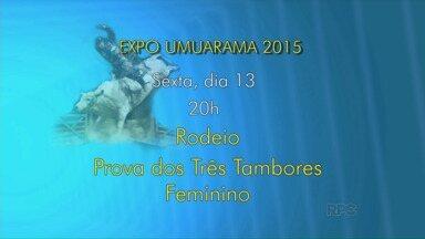 Confira as atrações deste fim de semana na Expo Umuarama - Tem as finais do rodeio e shows com Lucas Lucco e a dupla Teodoro e Sampaio.