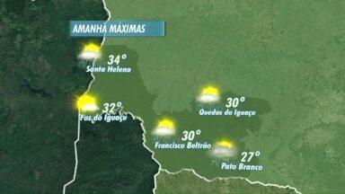 Domingo vai ser ensolarado em Foz - A partir de segunda, pode chover
