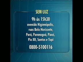 Vai faltar luz no centro de Londrina neste domingo (15) - Copel informou que vai fazer substituição de postes e fiação elétrica no centro da cidade. Serviço será reagendado em caso de chuva.