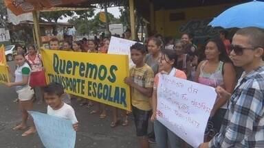 Falta de transporte escolar prejudica alunos no interior do AM - Transporte prejudica alunos na Zona Rural de Novo Airão.