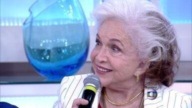 Convidados falam o que ainda têm que aprender durante a vida - Fátima Bernardes revela que ainda tem que aprender a nadar