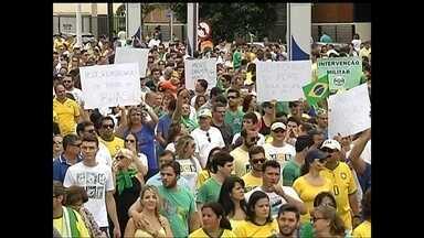 Manifestantes fazem protestos nas principais cidades do noroeste paulista - Manifestantes fazem protestos nas principais cidades do noroeste paulista contra o atual governo e a corrupção.