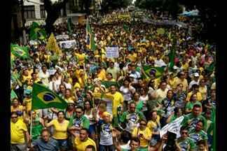 Manifestações contra o governo de Dilma Rousseff levaram milhares às ruas da capital - Cidades do interior também mobilizaram protestos.