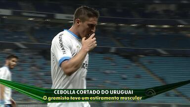 Uruguai corta Cristian Rodríguez de amistoso alegando lesão muscular - O departamento médico do Grêmio não confirma a lesão.