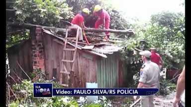 Árvore cai sobre casa em Ponta Grossa - Mãe e filha estavam dentro da residência, mas ninguém ficou ferido