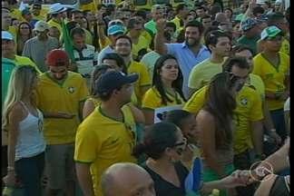 Em Petrolina também aconteceram manifestações - Os protestos foram marcados por críticas à corrupção e também ao governo da presidente Dilma Rousseff