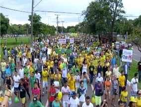 Manifestações em todo o estado reúnem milhares de pessoas nas ruas - Manifestações em todo estado reúnem milhares de pessoas nas ruas