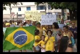 Protestos também foram realizados em outras cidades de Minas Gerais - Em Varginha, os mainifestantes se concentraram no centro da cidade.
