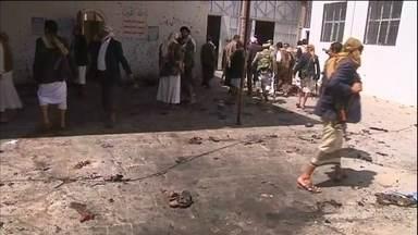 Veja no JH: Novo ataque terrorista no Iêmen deixa 126 mortos e quase 300 feridos - Quatro homens-bomba explodiram em duas mesquitas. Ainda não há a confirmação da autoria dos atentados.