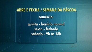 Confira o que abre e fecha no feriado de Páscoa - O comércio do centro de Londrina fecha somente na sexta-feira.