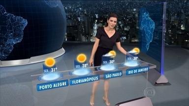 Quinta-feira (2) será de chuva em trechos do Norte do Nordeste do Brasil - Há previsões de temporais da faixa que vai do Amazonas ao Ceará. No Rio de Janeiro, no Espírito Santo e na Bahia pode haver chuva fraca.