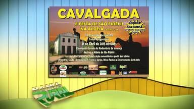 Confira a programação de eventos na zona rural - Entre as atrações tem cavalgadas e festas.