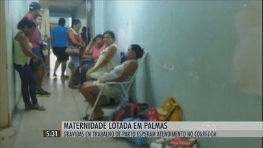 Grávidas em trabalho de parto ficam pelos corredores de hospital no TO - Principal maternidade pública do Tocantins, referência em parto humanizado, enfrenta dificuldades para atender bem as gestantes.