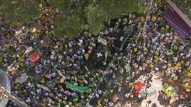 Manifestantes protestam contra o governo em Ribeirão Preto, SP - Segundo a Polícia Militar, 25 mil pessoas se reuniram para protestar na cidade.