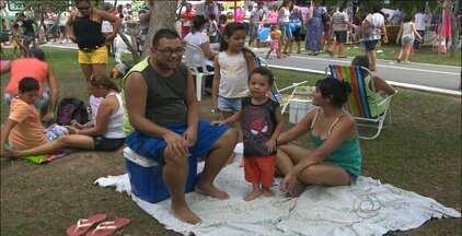 Comunidade participa do Domingo no Parque em Campina Grande - A iniciativa ofereceu atividades recreativas, de saúde e cidadania.