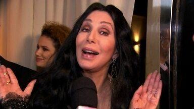 Bruno Astuto entrevista Cher em sua primeira visita ao Brasil - Colunista comenta especulações de que cantora esteja deprimida
