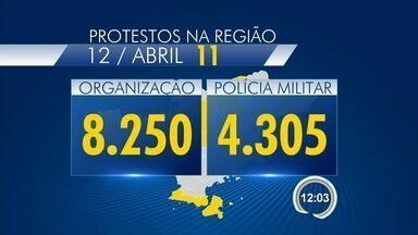 Cidades da região têm protestos no domingo - Veja balanço com os números.