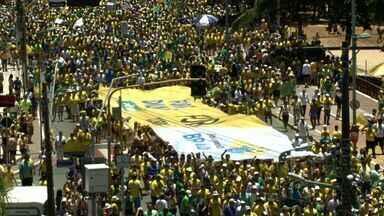 Em Alagoas, protestos contra o governo Dilma foram realizados em Maceió e Arapiraca - Organizadores dizem que na capital, 8 mil pessoas foram às ruas. Polícia diz que foram 6 mil.